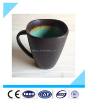 Fashionable square 14oz ceramic mugs with handle from China manufacturer