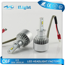 Factory directly sell car h3 led headlight bubls with emark4
