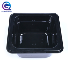 Fast-food restaurant black color non stick square plastic food pan