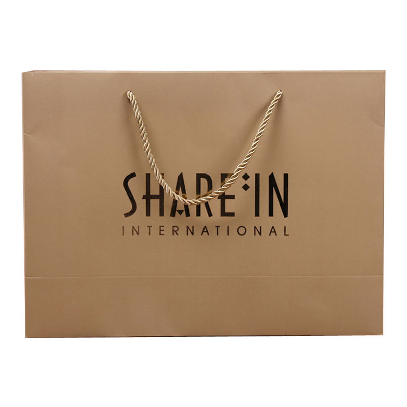 Custom made promotional paper handbag gift handle paper bag