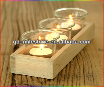 Simple Wood Candle Tray
