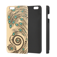 Natural wooden bamboo veneer, mobile phone cover for iphone, for Samsung