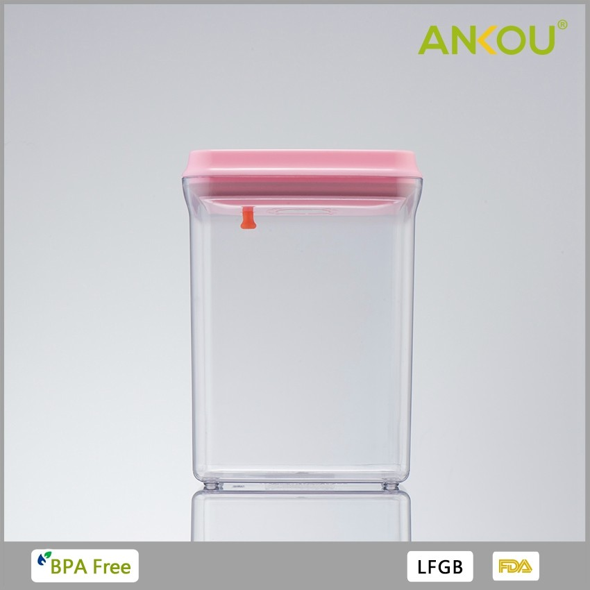 plastic multi vacuum 2000ml food preserve takeaway food container with lid