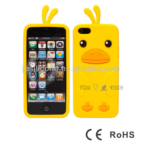 3D chick Silicone Case Cover for iphone 4 4S 4G Soft Rubber Skin Shell for Phone Accessories