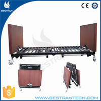 China BT-AE032 Long term care electric folding 5 function hospital nursing bed home care bed for elderly use