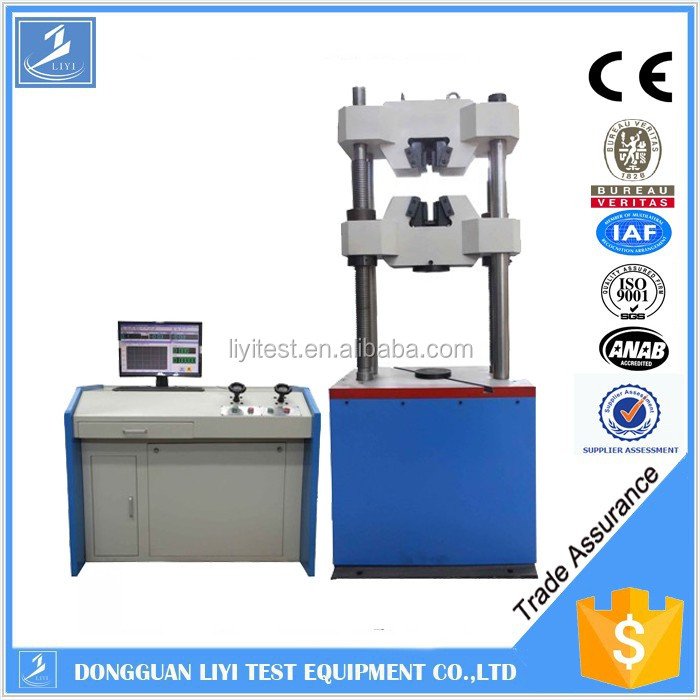 Electronic force measuring instrument usage metal thin plate tensile test