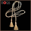 New arrival Khaki rayon and polyester long tassel for decoration BK-MTF699