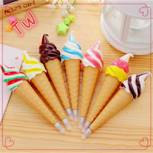 2018 china stationery market hot sale cute ice cream design ball pen store <strong>Promotions</strong> decorative ballpoint pens wholesale