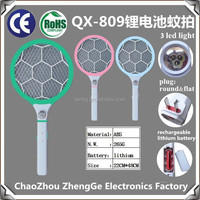 QX809-2 lithium battery rechargeable mosquito-hitting swatter pest control high quality