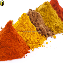 Yellow iron oxide powder pigment for paint color
