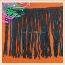 Polyester new fashion design decorative fringe trim for dress made in China