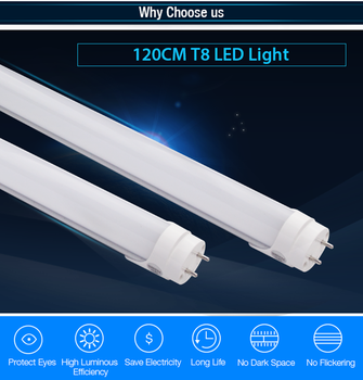 AC100-277V best selling UL DLC 4' T8 led tube light with stable light decay