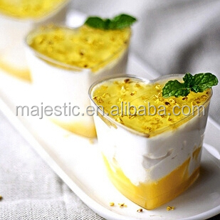 The New Arrival Disposable Heart Shape Transparent Hard Plastic Mousse Tiramisu Jelly Pudding Cup