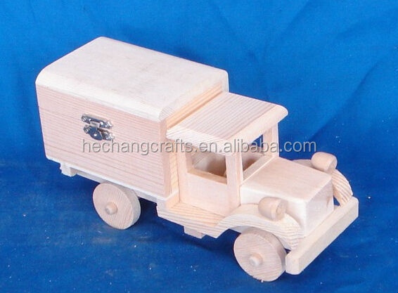 Customized crafts and arts wooden toys car