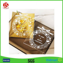 Transparent resealable printable 3 side seal bags plastic cookie packaging food bags with side tear notch