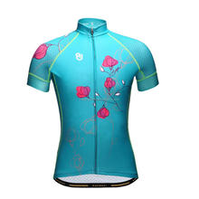 Racing fit factory supply sublimation printing quick dry women's cycling jersey