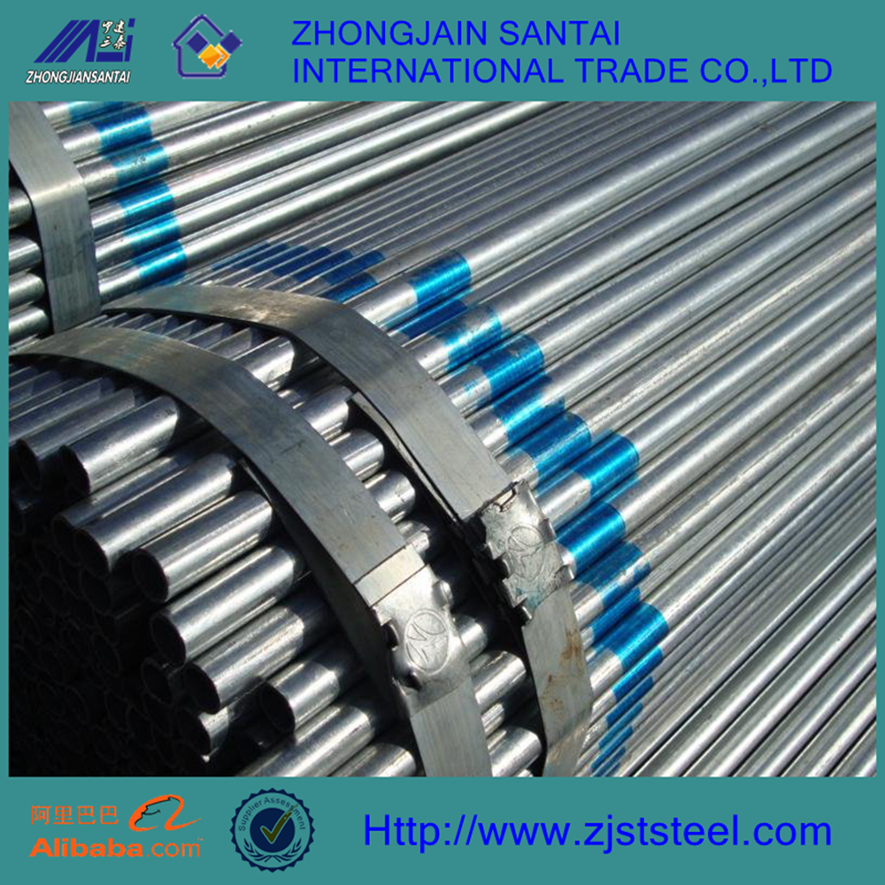 60mm schedule 20 carbon galvanized scaffolding steel pipe