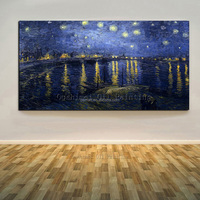 Well-Known Vincent Van Gogh Artwork The Starry Night Oil Painting On Canvas Hand-Painted The Starry Night Oil Paintings