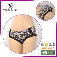 Floral Pattern Beautiful Sexual attraction sexy lace thick cotton underwear