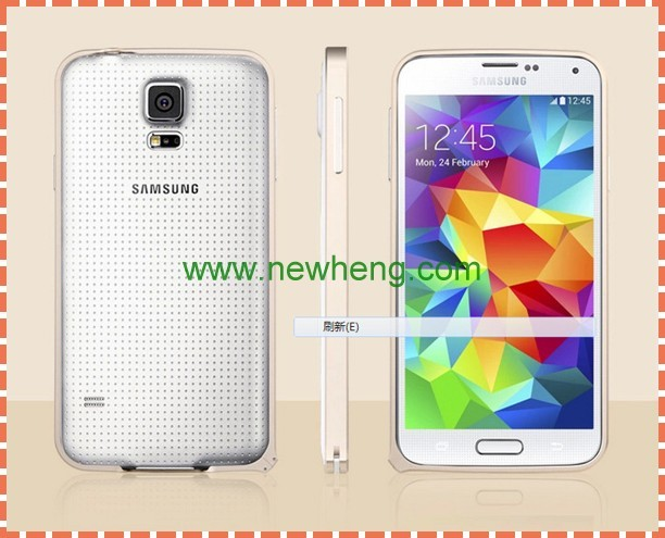 0.7mm ultra thin aluminum metal bumper case for Samsung Galaxy s5