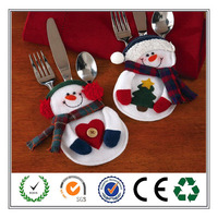 2017 unique design best seller chrismtas snowman cutlery holder