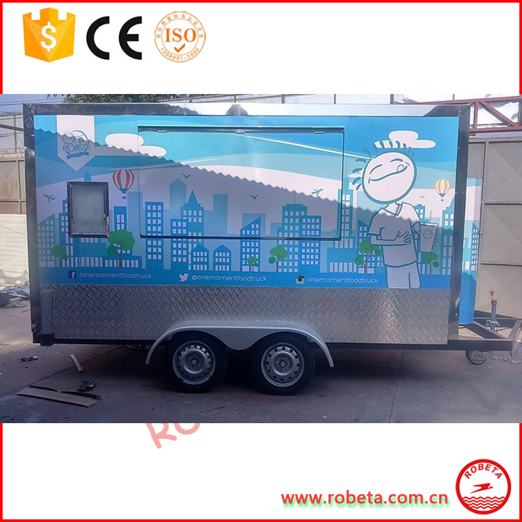 2017 new snack vending vehicle / camper van / fast food trailer