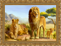 hot wholesale animal lenticular PP/PET 3d picture for home decoration