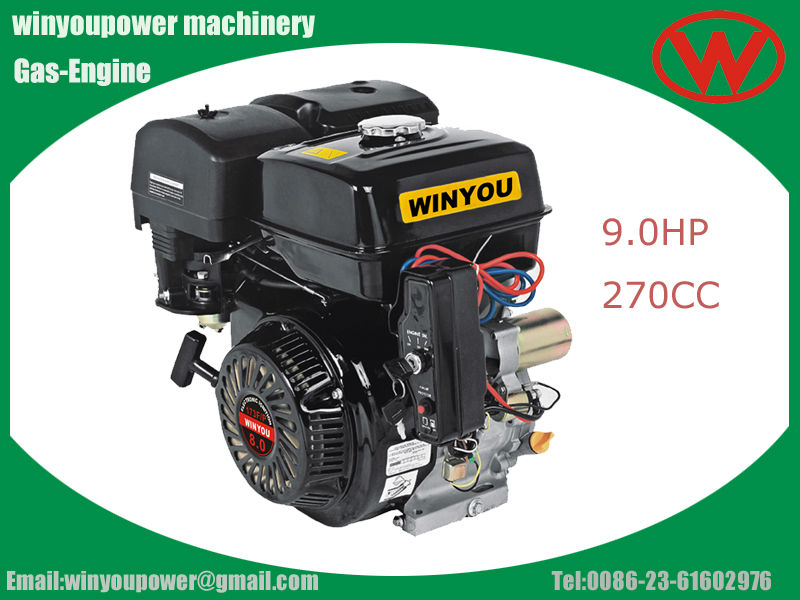 electric start air cooled small petrol gasoline engine 9hp