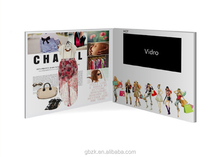 7 inch tft lcd brochure card/ greeting card/ video advertising red book/2014 new product