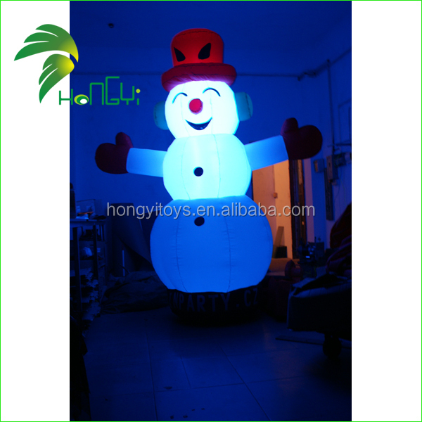 Hongyi Outdoor LED Lighted Christmas Inflatables Snowman , Giant Inflatable Santa Claus , Holidays Inflatables