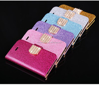 Wallet Shining PU Leather Case For iPhone 5 5S 5G Luxury Bling Phone Bag Flip Stand Case Cover + Card Slot Capa For iPhone5S 5