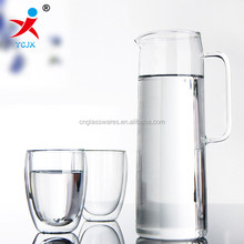 hand blown tall heat resistant borosilicate glass cold kettle
