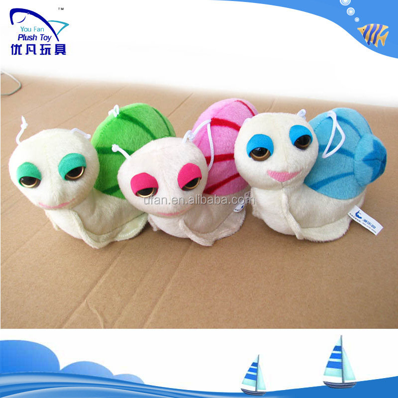 Plush Keychain/plush Animals Big Eyes/cute Kids Toys Snail ...