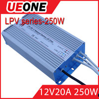 Factory outlet CE 250W 12v waterproof led constant voltage power supply LPV-250-12