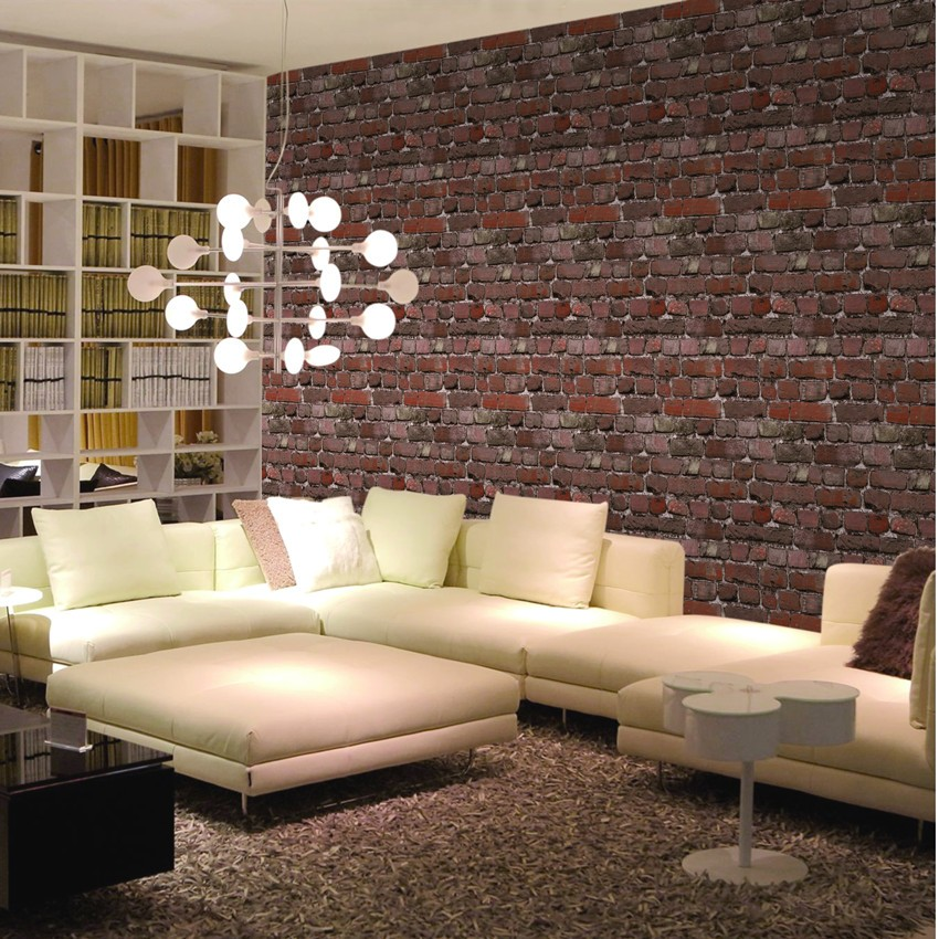 Natural Design Vinyl Wallpaper 3D Wallpaper Brick