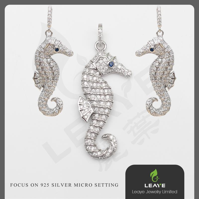 925 Sterling Silver Earrings and Pendant Set