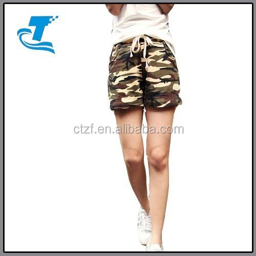 Summer Camouflage Women Sexy Board Shorts