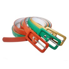 Fashion colorful pu skinny leather belt for garment decorate
