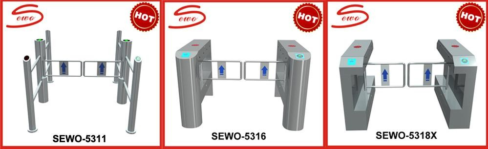 0.3sec High Speed / NO VOICE RFID Control Brushless Motor Gate Barrier With Friendly Software