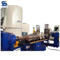 Automatic new and compactor plastic recycle pellet machine line with metal detector