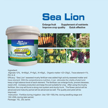SeaSpirit Sea Lion seaweed mushy fertilizer which added high activity seaweed matter and trace element