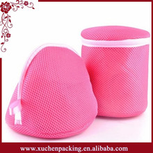 Top Quality New Design Pink Mesh Lingerie Wash Bag With Zipper Wholesale
