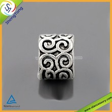 Zinc Alloy Beads Bracelet Beads Flat Metal Beads
