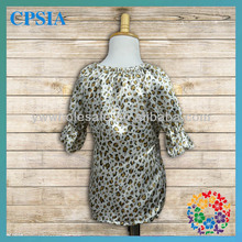 New Arrival Wholesale Short Sleeve Leopard Fancy Toddler Dresses Girls Tutu Baby Dress