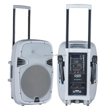 active trolley speakers white rechargeable 15 inch box to sound