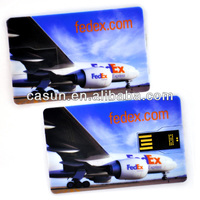 Customized CMYK printing card usb flash for promotional