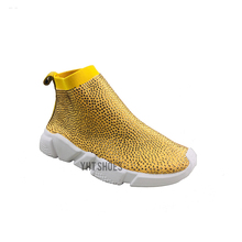 China wholesale crystal rhinestones diamond sock sneakers runners shoes