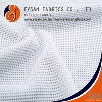 EYSAN Light Mini Waffle Spandex Polyester Knitted Honeycomb Fabric