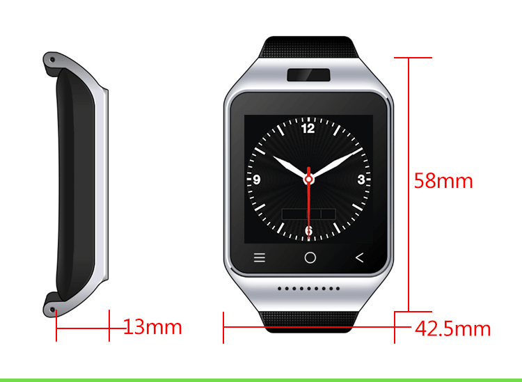 video remote Phone finder MP3 playback Android IOS S8 wristband smart phone watch wrist watch bracelet