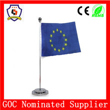 Gold Supplier in Ali flag for office retractable flagpole flag European Union flag wholesale (HH-flag-112)